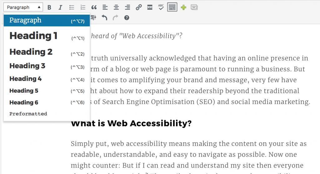 Choosing header types on WordPress